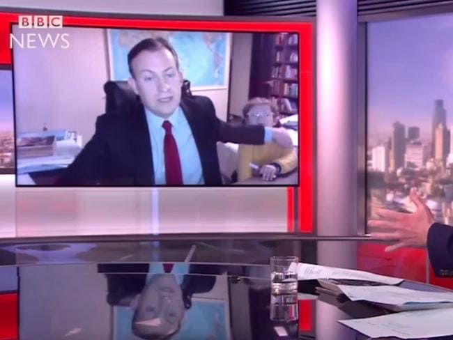 Professor Robert E Kelly shot to viral fame when his children interrupted his interview on BBC World News last year.