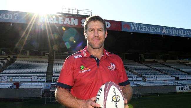 Newly announced Reds coach Brad Thorn poses for a photo at Ballymore.
