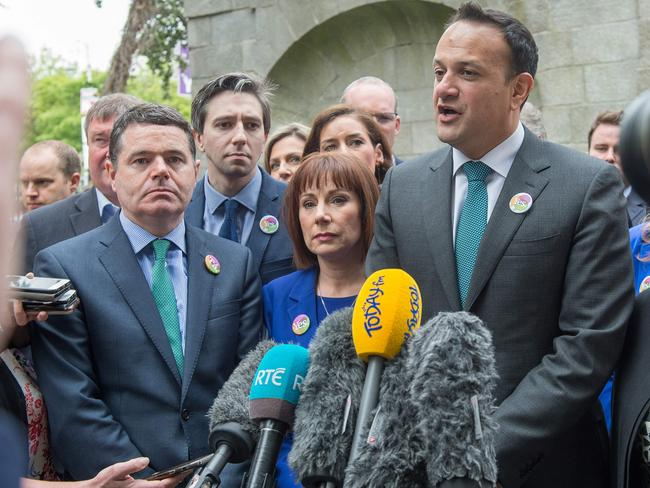 "Prime Minister Leo Varadkar called for people to vote in this ""once in a lifetime opportunity"". Picture: AFP"