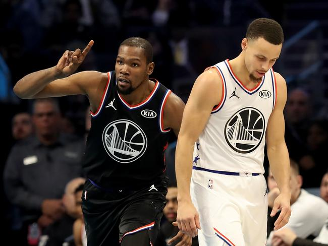 Steph Curry will have to get used to KD being an opponent.