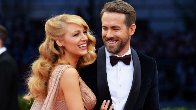 Blake Lively and Ryan Reynolds at the 2014 Met Gala. Picture: Mike Coppola/Getty Images