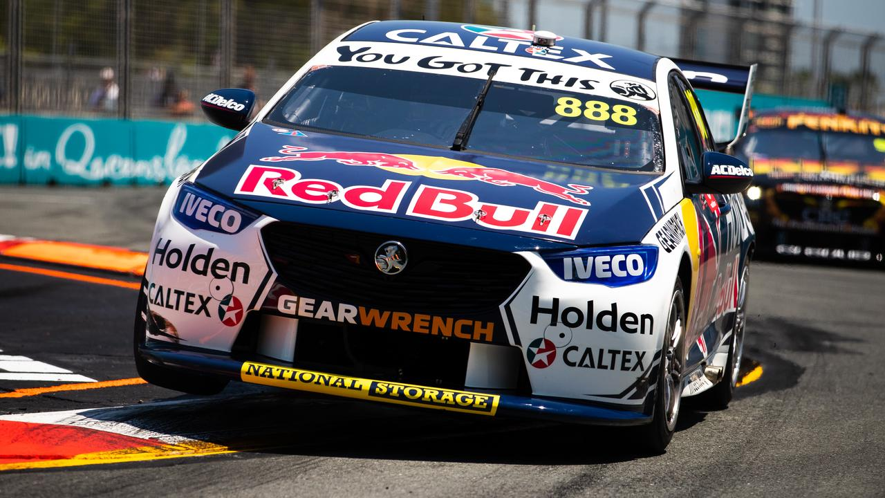Jamie Whincup during opening Gold Coast 600 practice. Picture: Daniel Kalisz