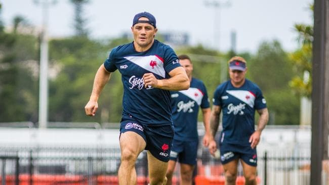 Cooper Cronk at training. Picture: Roosters Digital.