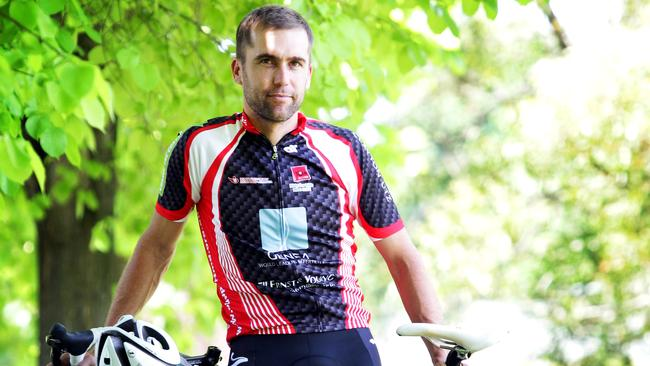 Former road and track cycling star Bradley McGee at home in Bowral.
