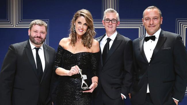 With fellow award-winning Sky News presenters. (Pic: Supplied)