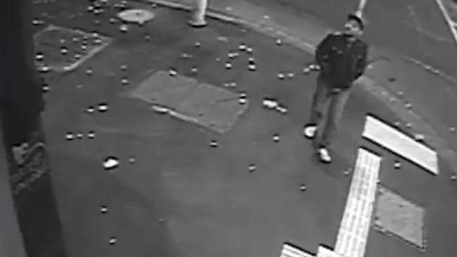 PHOTO: The man was captured on CCTV on King Street in Melbourne's CBD. Source: Twitter/ Victoria Police