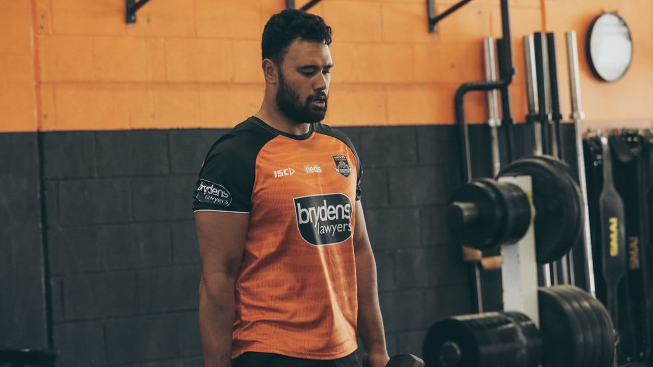 Zane Musgrove in action at Wests Tigers training: Photo: Wests Tigers