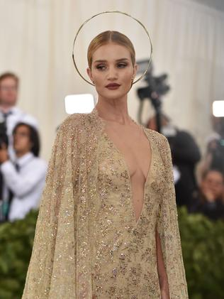 Rosie Huntington-Whiteley attends the 2018 Met Gala in New York City. Picture: AFP