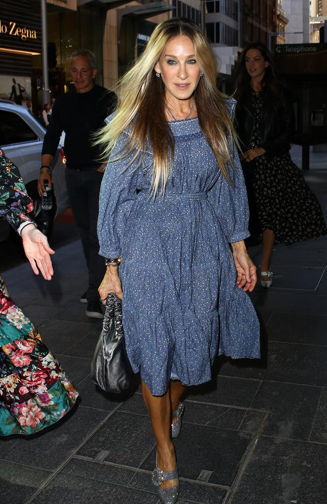 Carried away! Sarah Jessica Parker has reflected on her Sex and the City role during her recent trip to Australia. Picture: Matrix Media Group