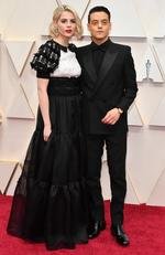 (L-R) Lucy Boynton and Rami Malek attend the 92nd Annual Academy Awards at Hollywood and Highland on February 09, 2020 in Hollywood, California. (Photo by Amy Sussman/Getty Images)