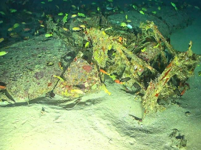 A close-up of the wreckage. Picture: Scripps Institution of Oceanography at the University of California San Diego/RV Petrel/Vulcan Inc./Project Recover