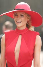 Jennifer Hawkins poses at the Myer Marquee on Melbourne Cup Day at Flemington Racecourse on November 1, 2016 in Melbourne, Australia. Picture: Scott Barbour/Getty Images