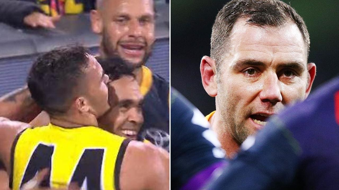 Cameron Smith admits he wasn't a complete fan of Eddie Betts and Sydney Stack's embrace.