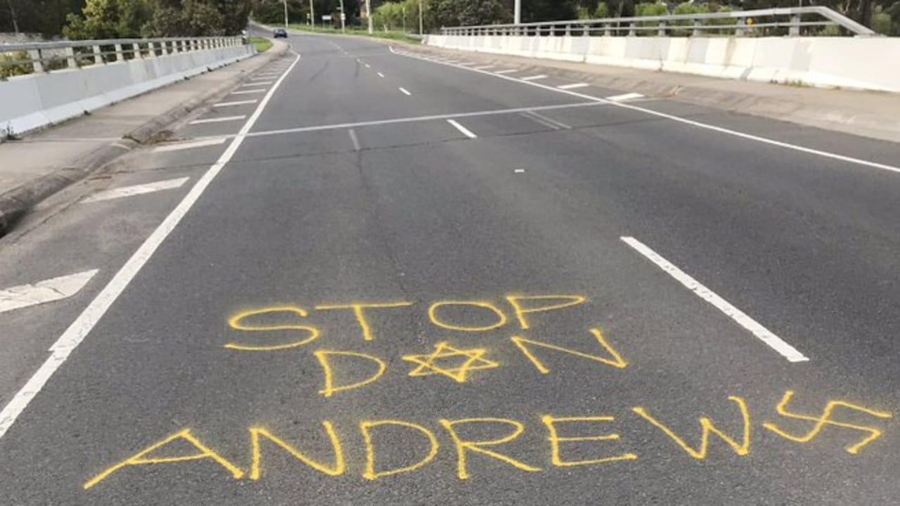 Coronavirus Victoria: Daniel Andrews targeted with anti-Semitic graffiti