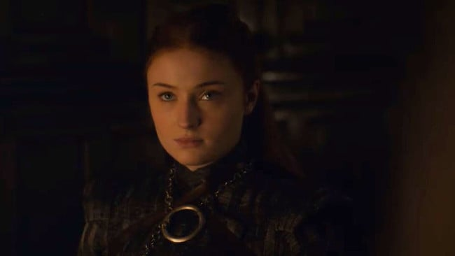 Sansa's shady eye-roll says it all.