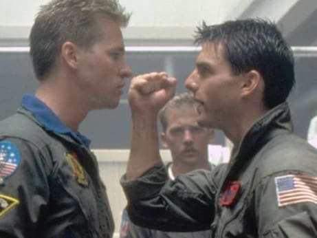 Tom Cruise and Val Kilmer in Top Gun had a similar dynamic in real life.