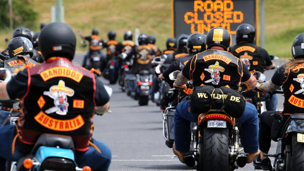About 300 Bikers From The Bandidos Motorcycle Club Descend