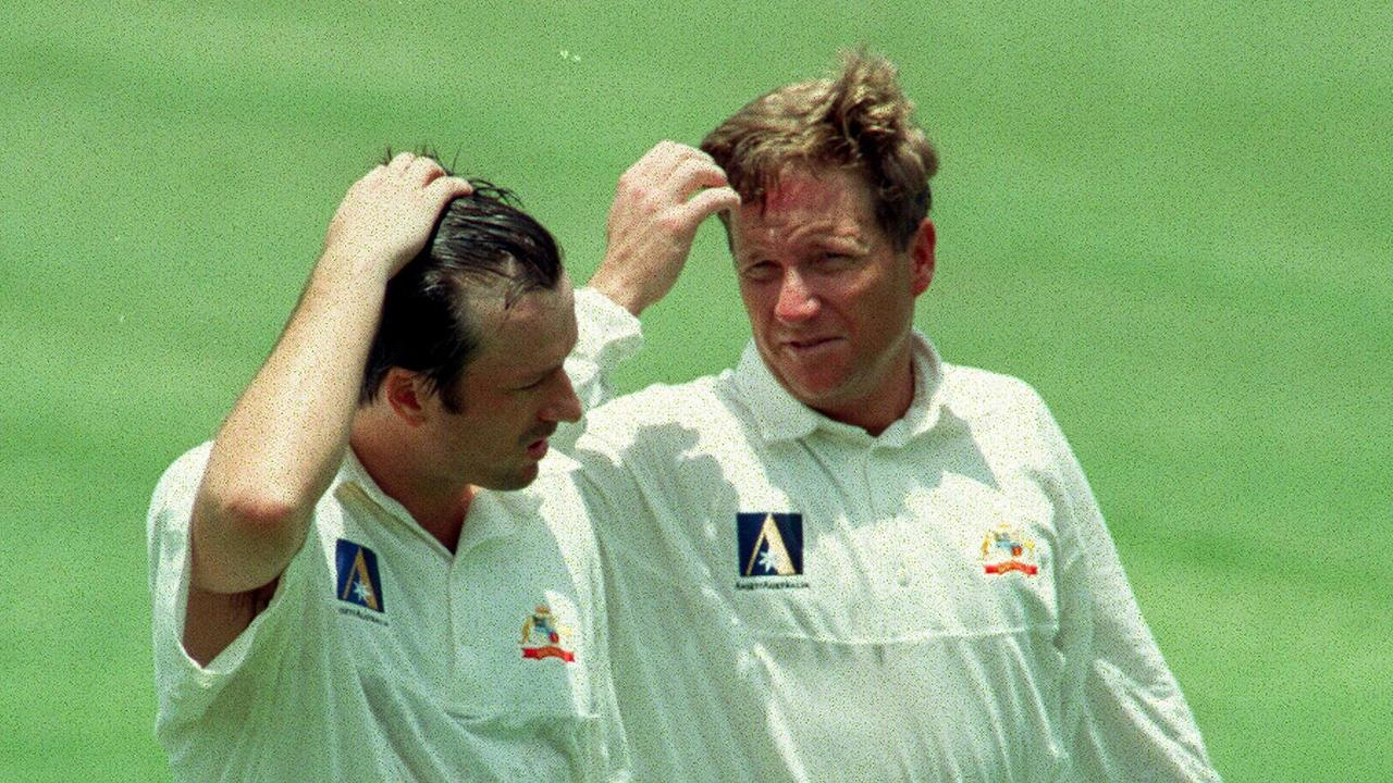 Ian Healy was not too happy with Steve Waugh's timing when it came to a dressing room photo.