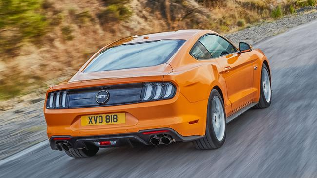 Changes to the rear-end styling of the Ford Mustang are subtle. Picture: Supplied.