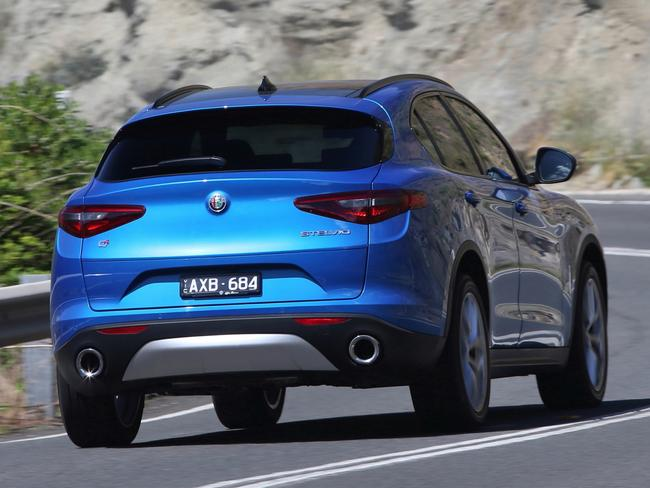 Stelvio Ti: 0-100km/h in 5.7 seconds, so this is what most rivals will see