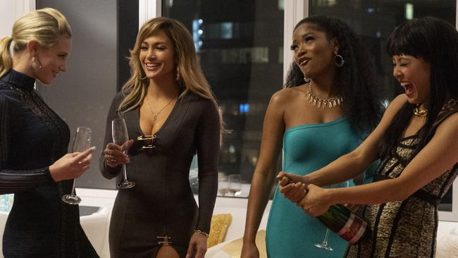 In the film, JLo leads a group of women who drug patrons of a strip club to steal their money. Picture: Supplied by Roadshow Films.