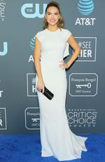 Actress Chrishell Hartley arrives for the 24th Critics' Choice Awards at Barker Hangar Santa Monica airport on January 13, 2019 in Santa Monica, California. (Photo by Jean-Baptiste LACROIX / AFP)