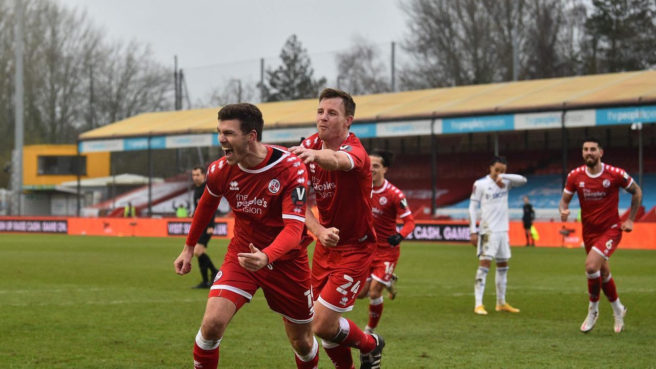 Crawley Town start the party after hammering Leeds.