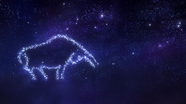 Taurus zodiac sign on space background. Picture: Getty Images (iStock)
