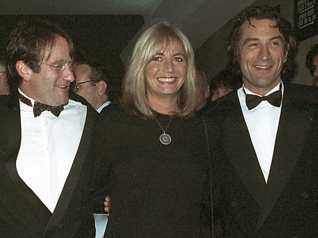 Penny Marshall directed Robin Williams, left, and Robert De Niro in Awakenings. Picture: AP