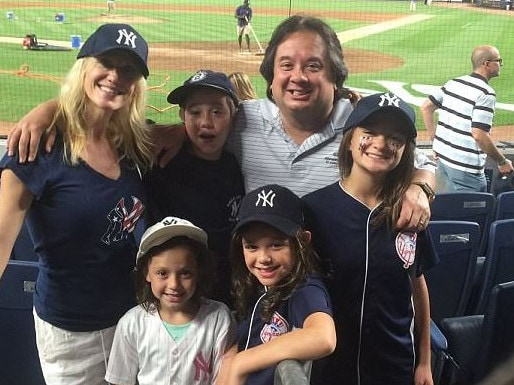 Kellyanne Conway and husband George with their four children. Picture: Twitter