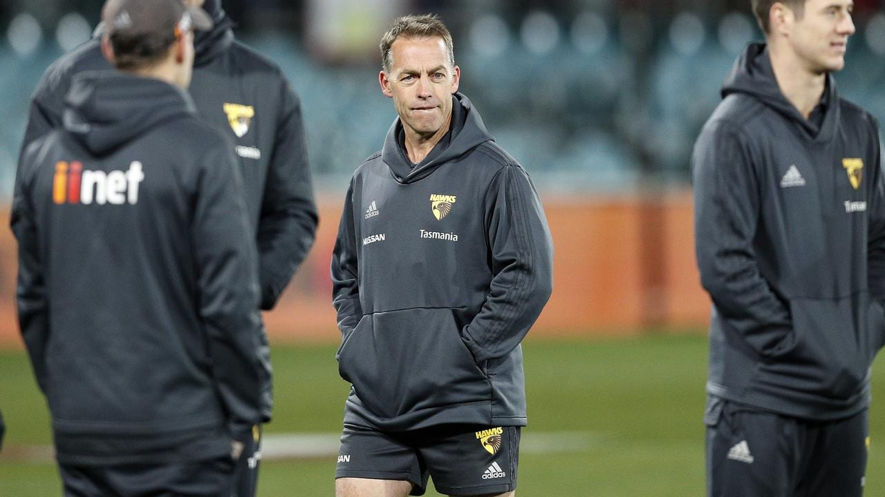 Hawks head coach Alastair Clarkson. Picture: Mark Metcalfe