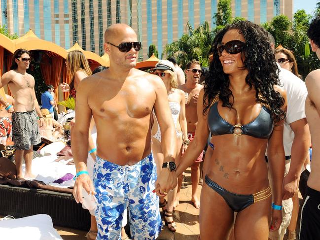 Mel B and Stephen Belafonte in happier times. Picture: Wire Image