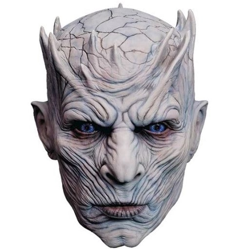 No dragonglass required to become the Night King. Just stick on this mask and scare your friends. Picture: Supplied
