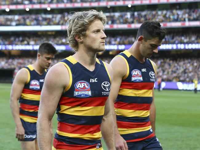 Adelaide's Rory Sloane is out of contract beyond 2019. Picture: Sarah Reed