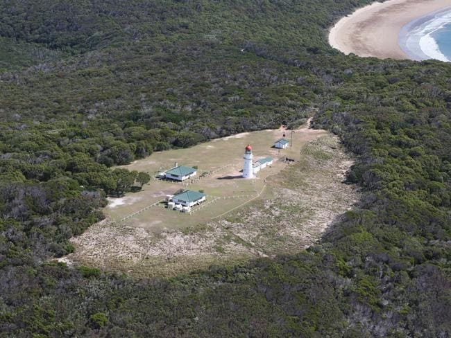 And the whole lightstation viewed from the air.