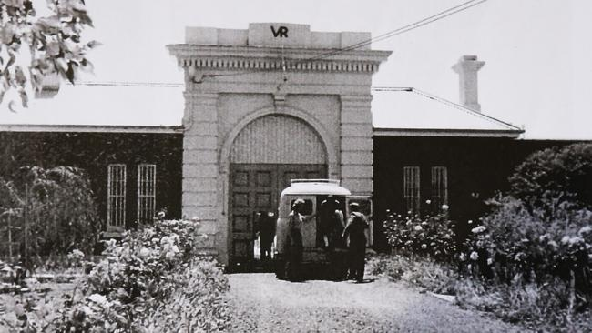 The imposing entrance to the Parramatta Girls School in the early 1960s.