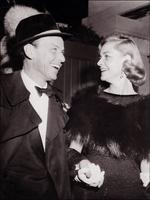Following her late-husbands death Bacall was romanced by music legend Frank Sinatra. The pair are pictured in 1960. Picture: AFP