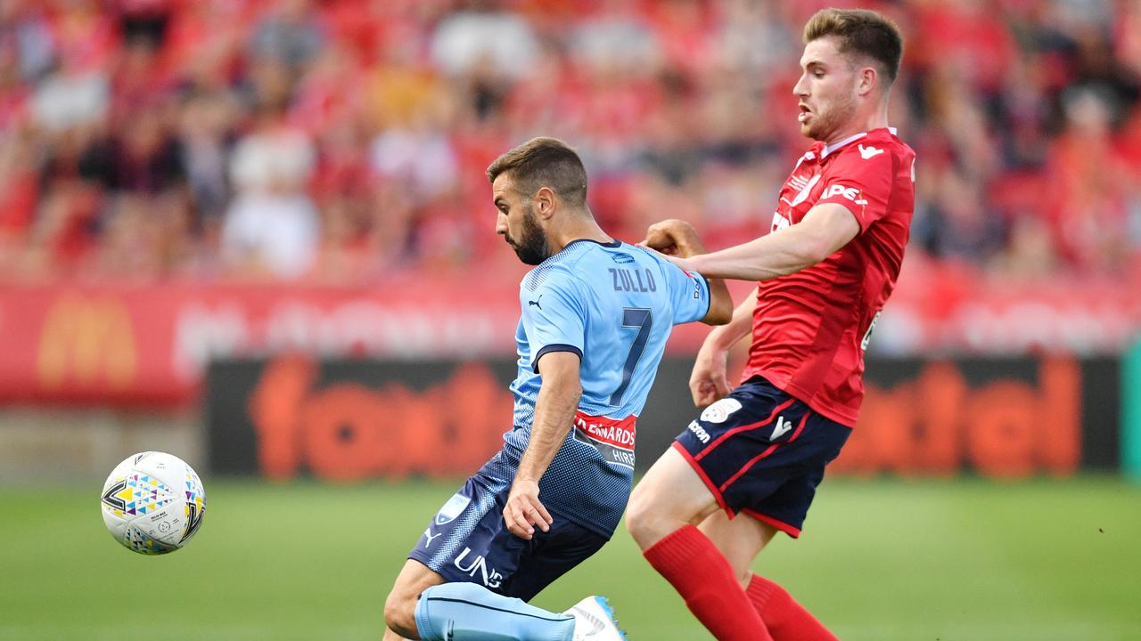 Strain helped Adelaide United beat Sydney FC in the FFA Cup final.