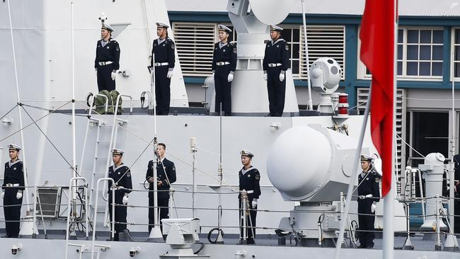 Chinese warships enter Sydney Harbour: Hidden detail we missed