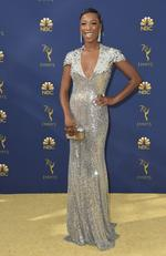 Samira Wiley arrives at the 70th Primetime Emmy Awards on Monday, Sept. 17, 2018, at the Microsoft Theater in Los Angeles. (Photo by Jordan Strauss/Invision/AP)