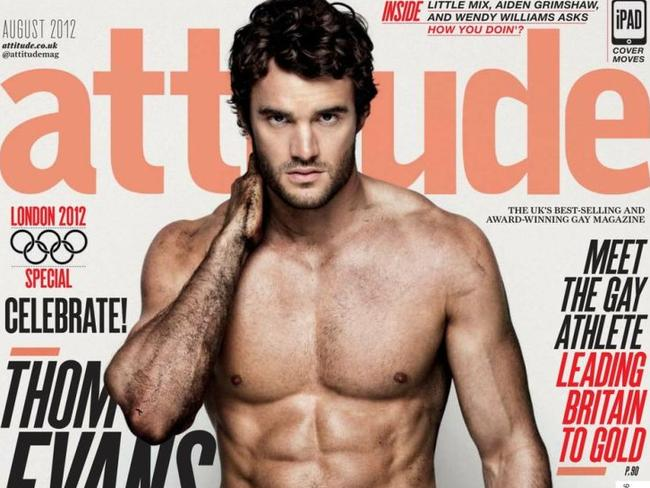 Sport and porn ... Rugby player Thom Evans.