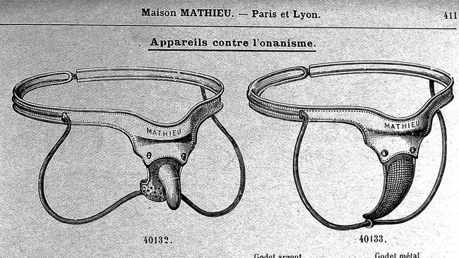 Devices prescribed for treatment of masturbation. Picture: CC BY/Wellcome Collection