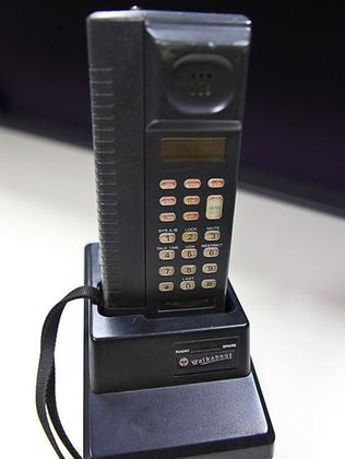 """""""The Brick"""" was Australia's first hand-held mobile phone. Picture: Supplied"""