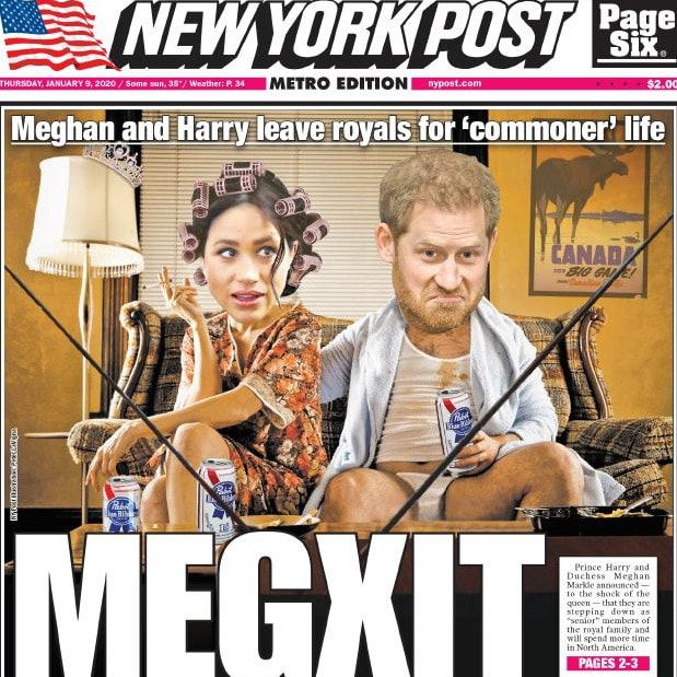 New York Post. Picture: Supplied.