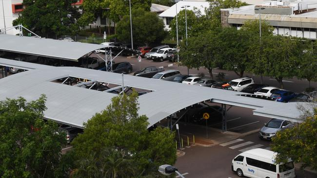 The man visited Woolworths Darwin City on Tuesday afternoon. Picture: Katrina Bridgeford.