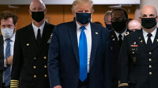 Trump has long been resistant to wearing a mask. Picture: Alex Edelman /AFP