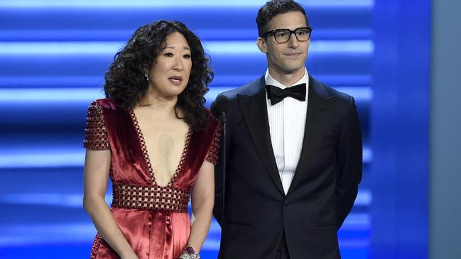 The pair nailed their short presenting stint at this year's Emmys. Picture: Chris Pizzello/Invision/AP