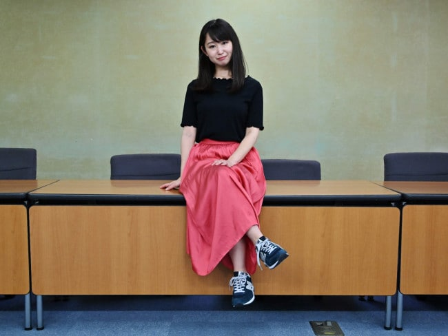 Yumi Ishikawa is the leader and founder of the KuToo movement. Picture: Charly TRIBALLEAU/AFP