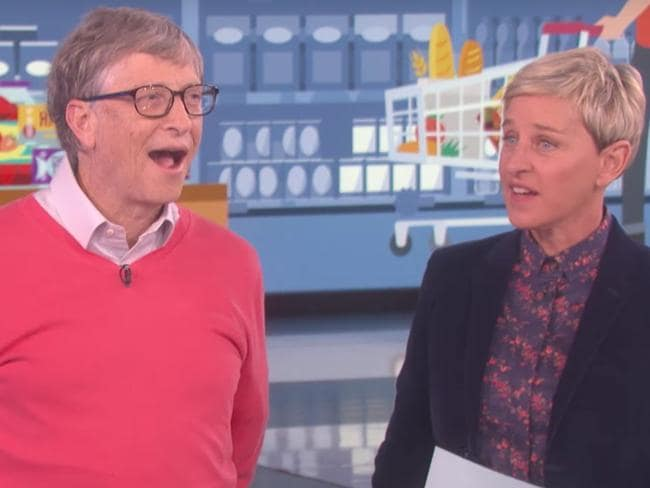 Ellen was left slightly gobsmacked by Bill Gates' out-of-touch responses.