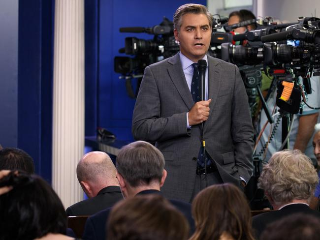 CNN journalist Jim Acosta has been on the receiving end of much of the Trump administration's vitriol. Picture: AP